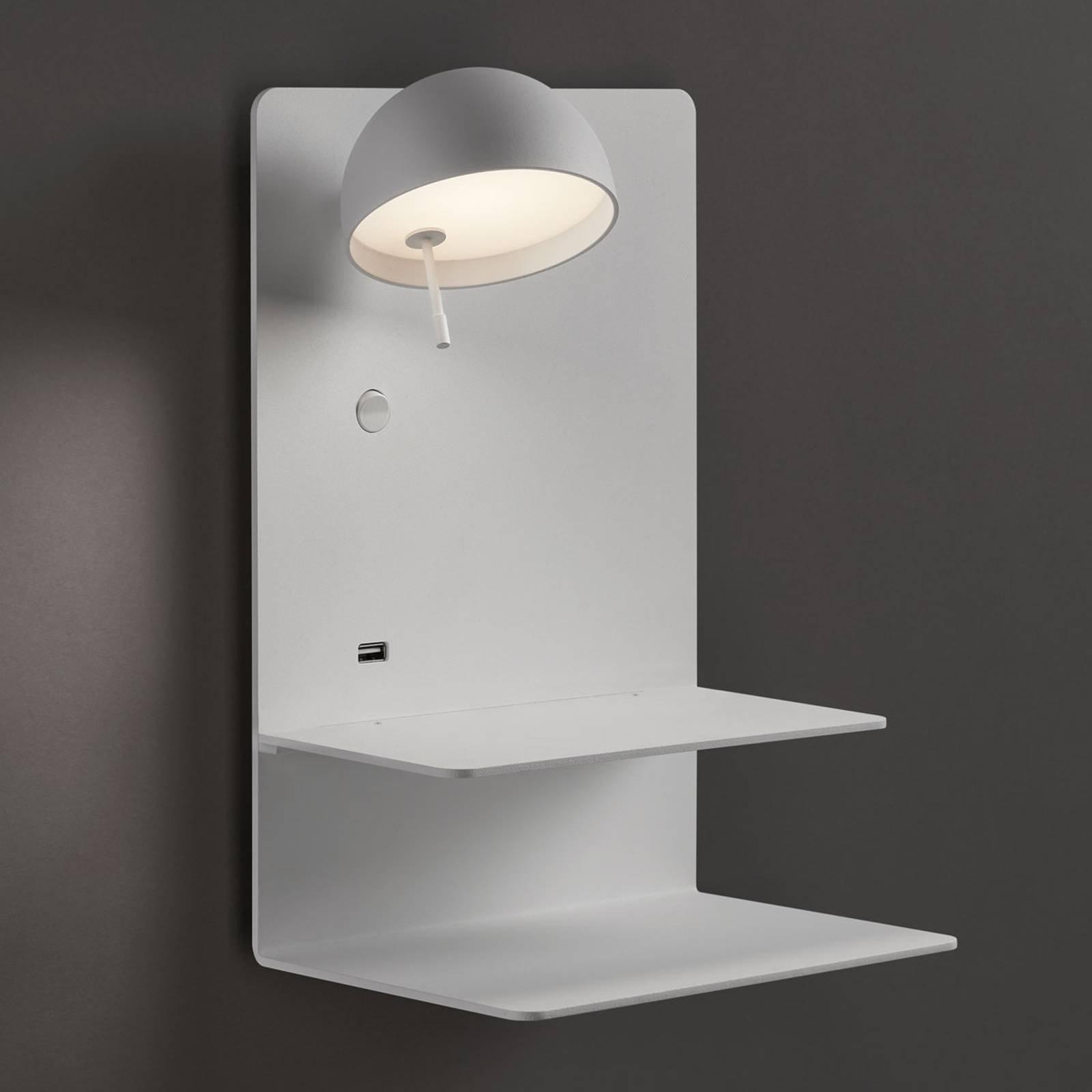 Bover Beddy A/04 LED-vegglampe hvit spot venstre