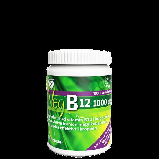 OmniVegan B12 1000 µg, 120 tabletter