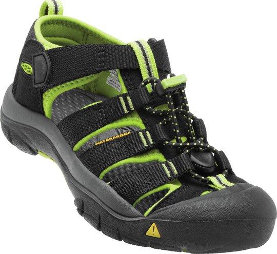 KEEN Newport H2 Sandal, Black/Lime Green 24