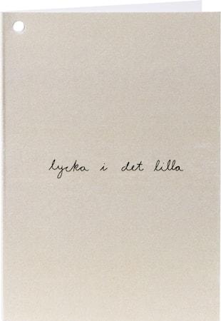 Citatkort 'Lycka' Natur/Svart
