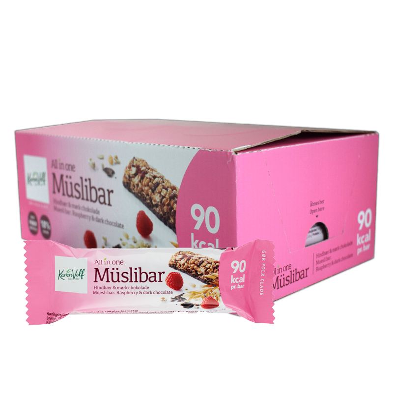 Müslibar Hallon & Mörk Choklad 24-pack - 60% rabatt