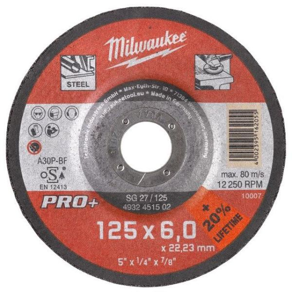 Milwaukee SG 27 PRO+ Kappskive 125x6 mm