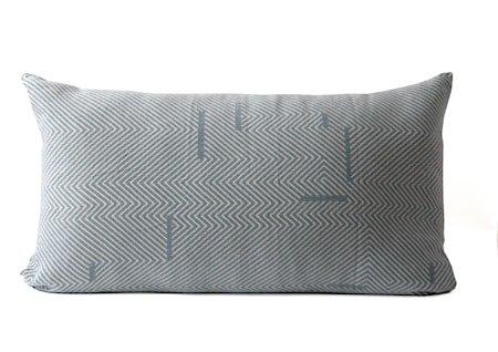 Pute Rest 50 x 90 cm - Blå/hvit