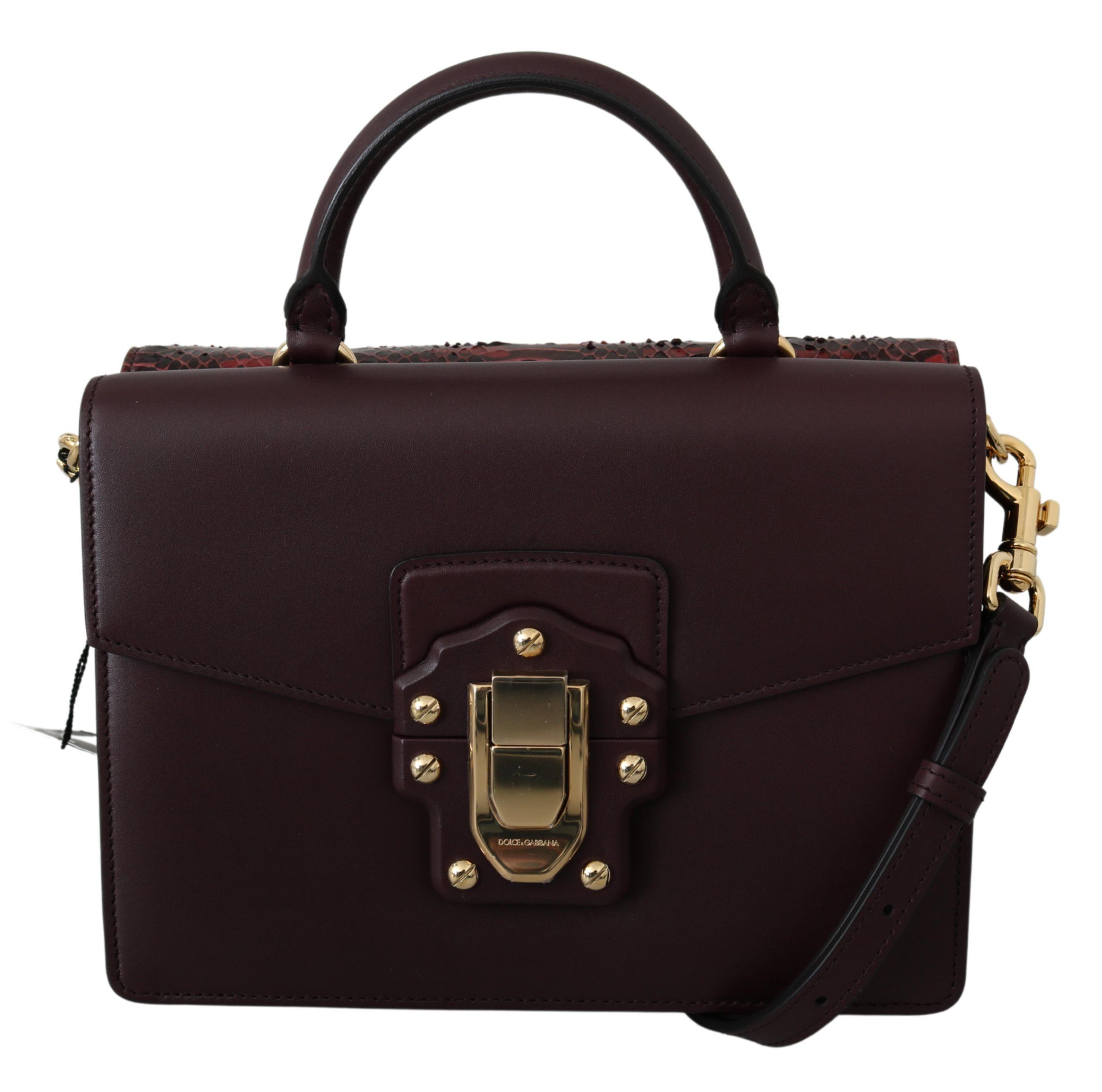 Dolce & Gabbana Women's Snakeskin Leather Shoulder Bag Black VAS9595