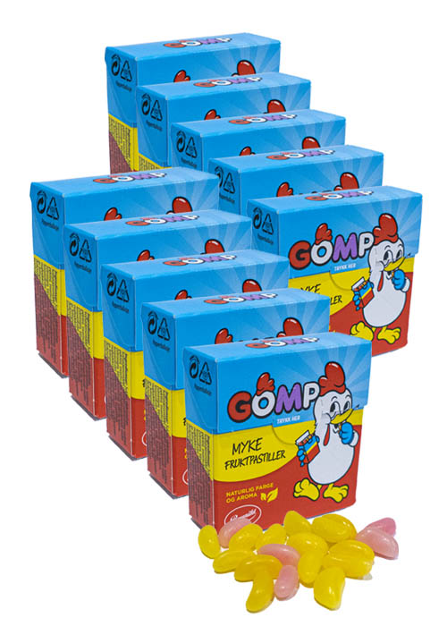 Gomp Fruktpastiller 25g 10-pack