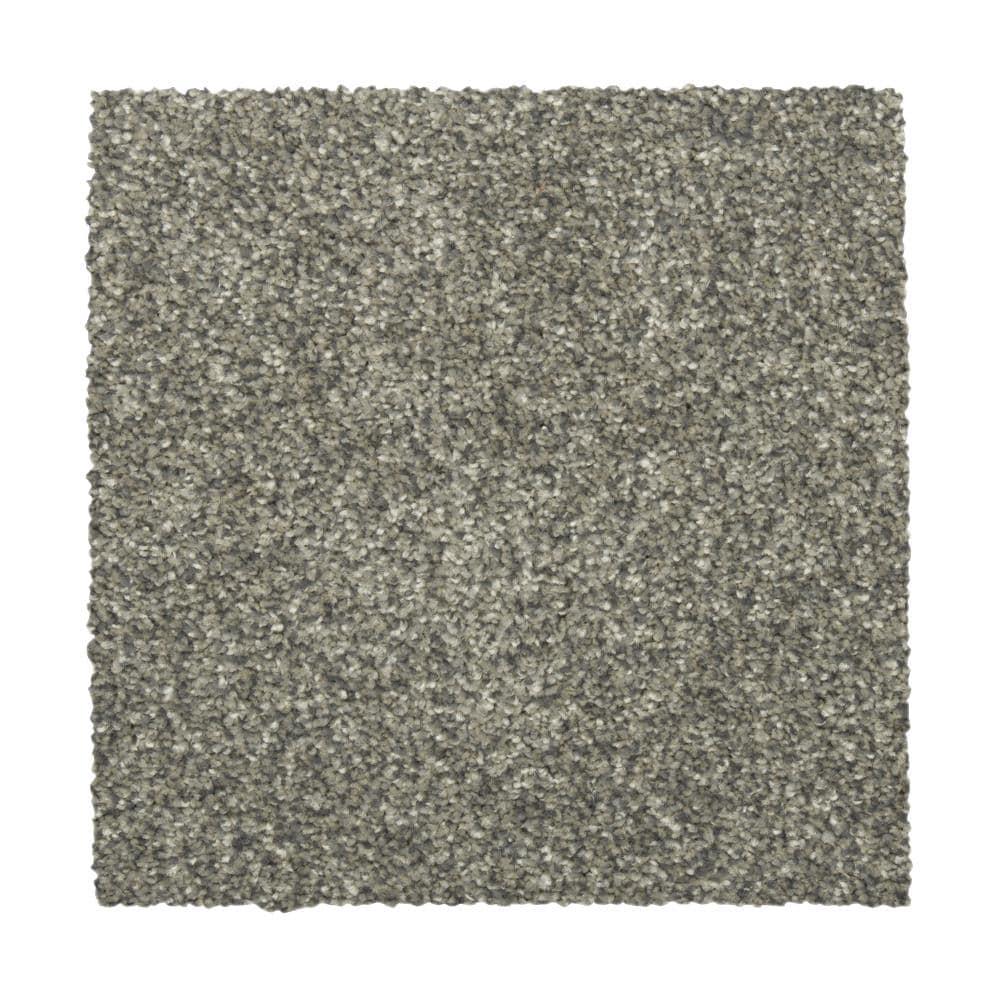STAINMASTER Vibrant Blend I KETTLE Carpet Sample Polyester in Gray | STP32-L007-0808