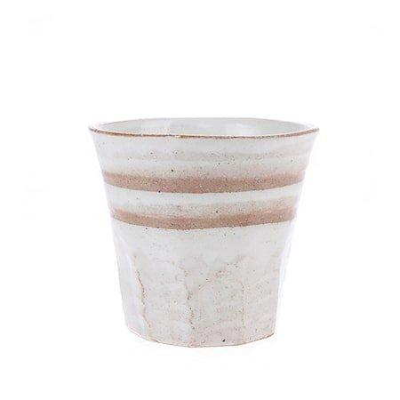 Japansk Keramikk Kopp Hvit/Terra