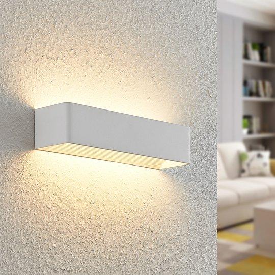 Arcchio Karam LED-vegglampe, 36,5 cm, hvit