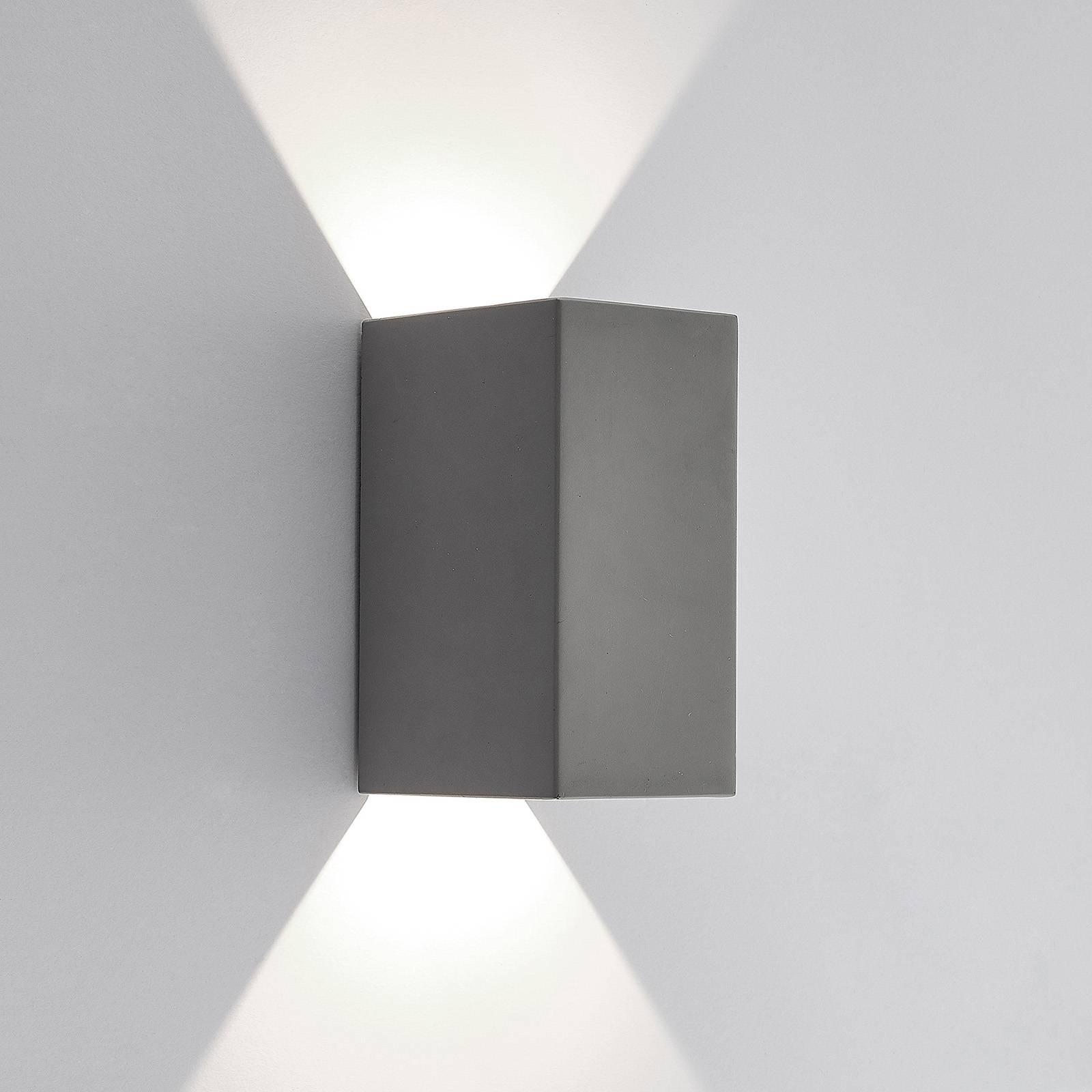 Lucande Vigga -LED-ulkoseinälamppu, betonia