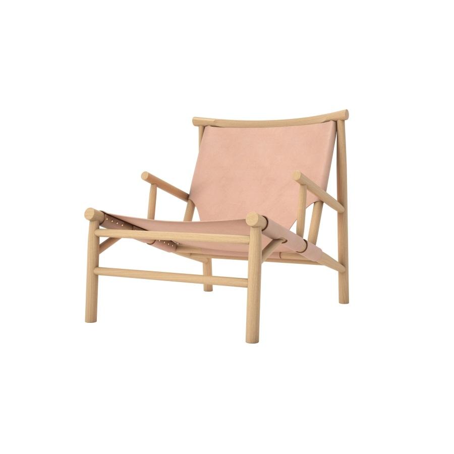 Lounge stol Samurai Chair - natur läder, Norr11