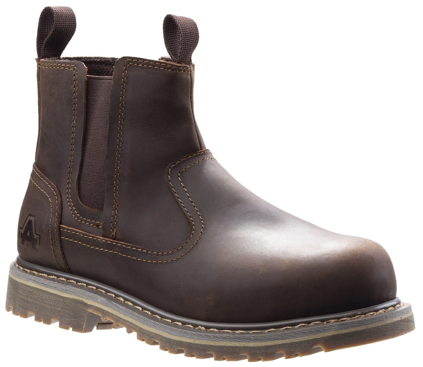 Amblers Women's Safety Alice Slip On Safety Boot Brown 29964 - Brown 3