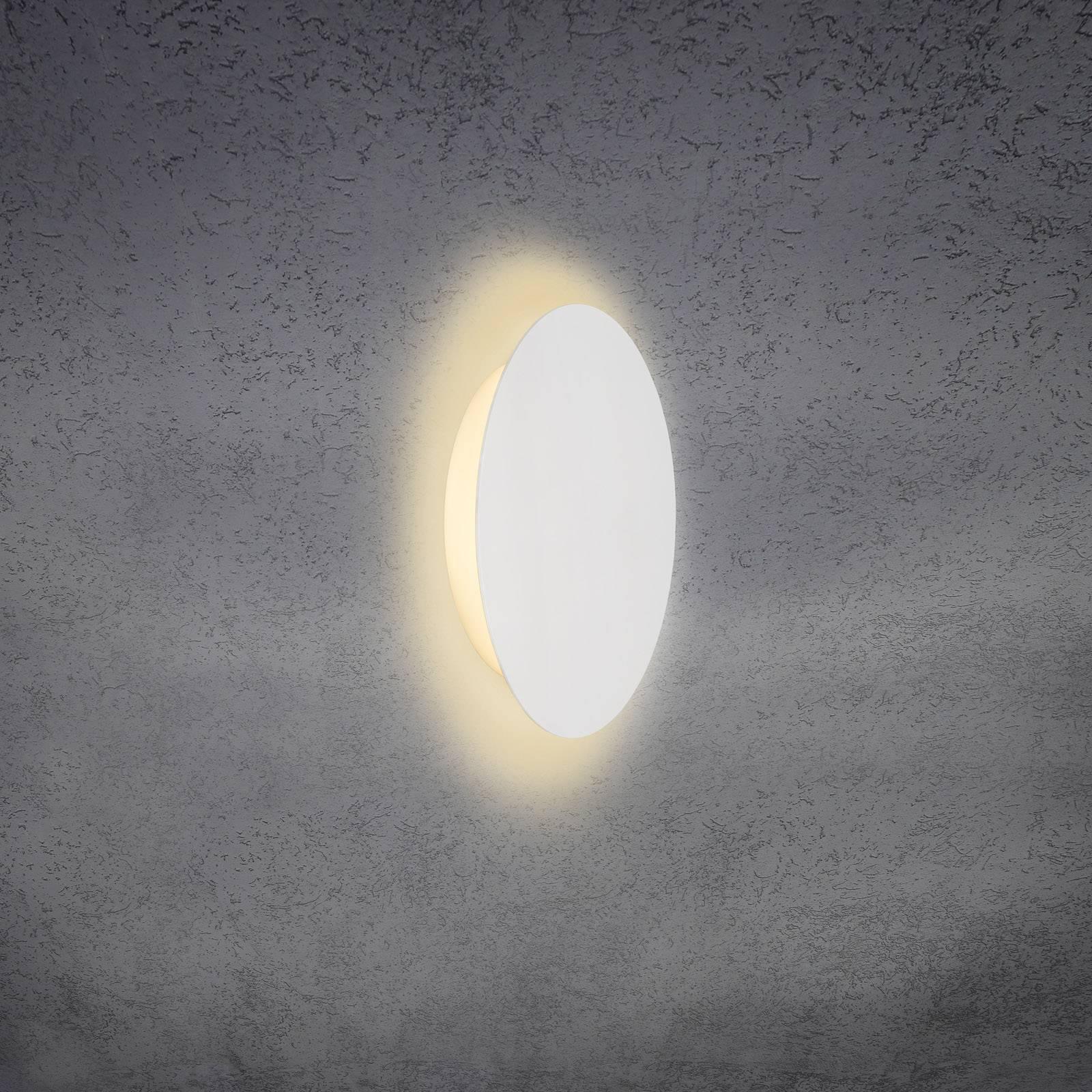 Escale Blade -LED-seinävalo mattavalkoinen Ø 24 cm