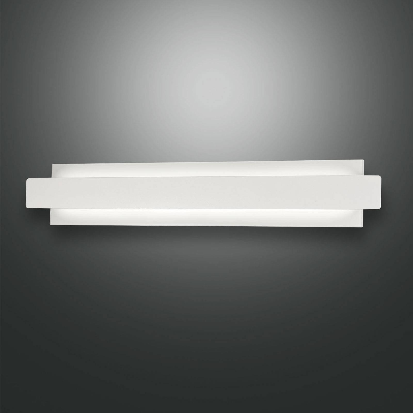 LED-vegglampe Regolo med metallfront, hvit