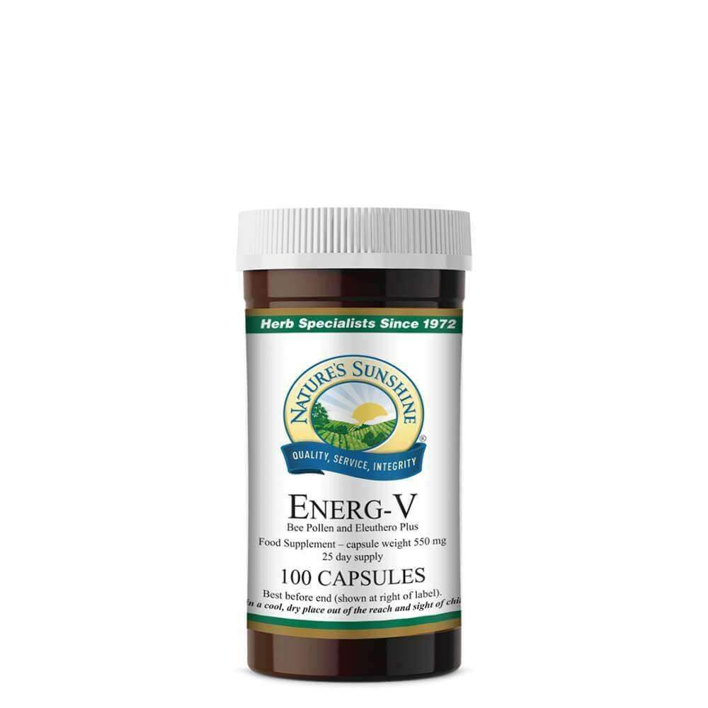 Energ-V with Bee Pollen (100 Capsules)