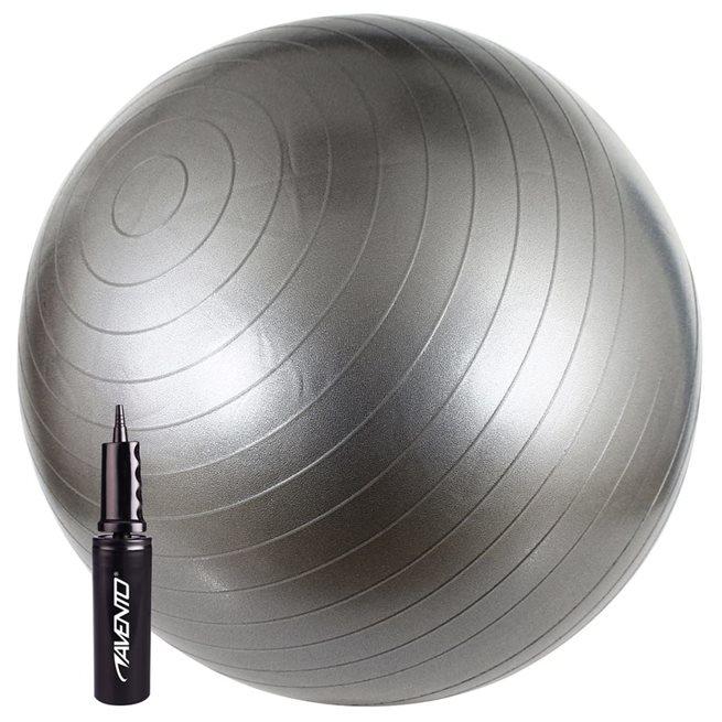 vidaXL Fitnessboll 65 cm silver