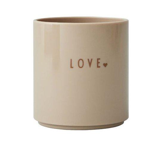 Design Letters Favorittkopp Mini Love, Beige