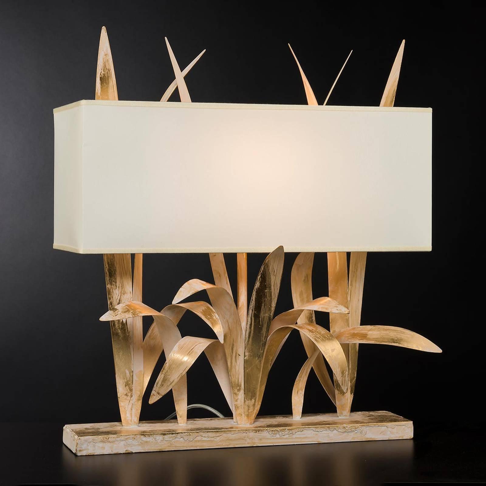 Leon bordlampe med gullblad