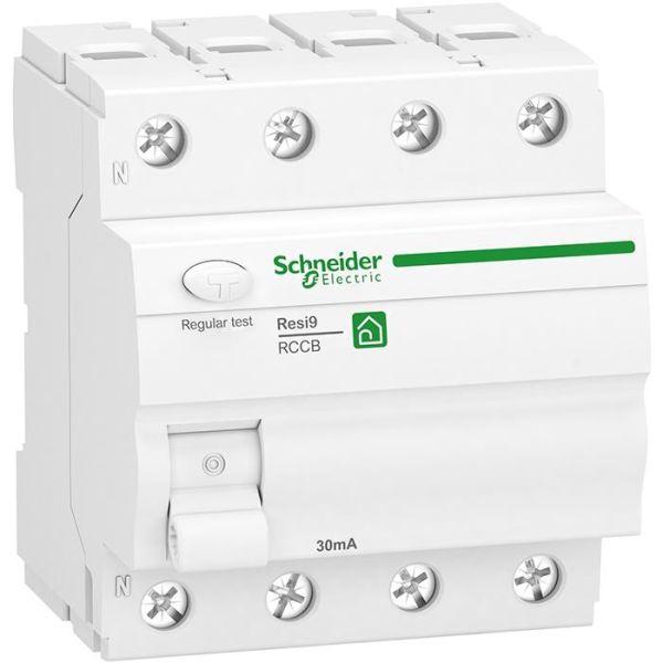 Schneider Electric Resi9 Vikavirtasuoja 4-napainen, 40 A