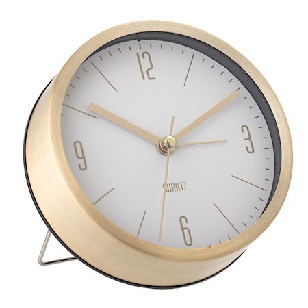 Table Clock, Gold, Aluminum