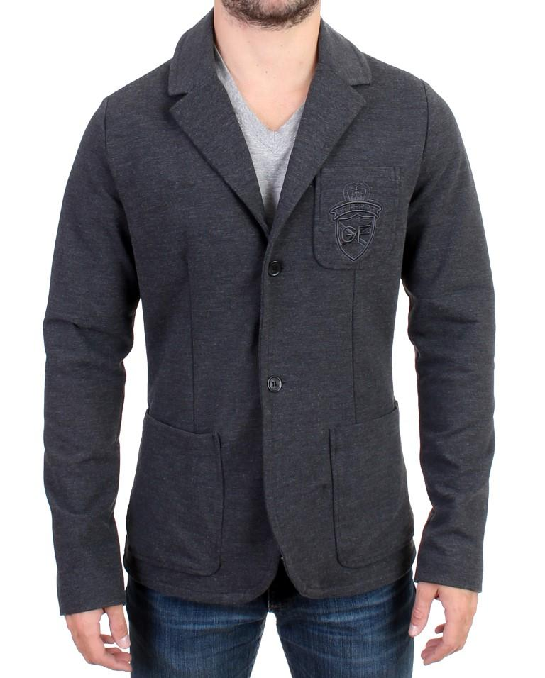 GF Ferre Men's Comfort Stretch Two Button Blazer Gray SIG10845 - IT48 | M