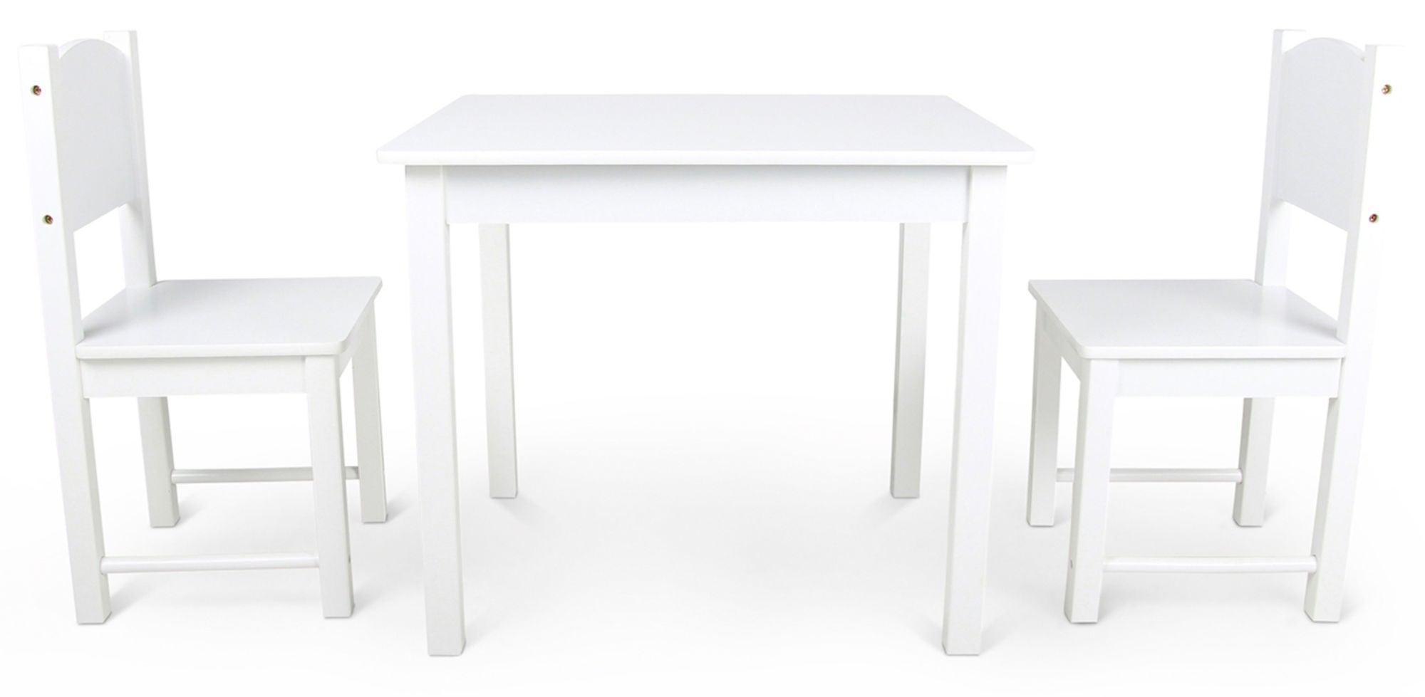 Woodlii Pöytä ja Tuolit, Valkoinen