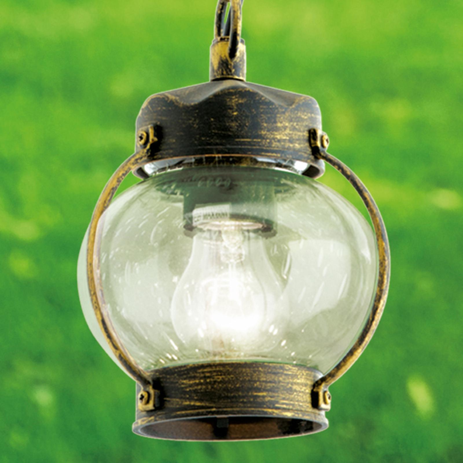 Puhallettua lasia – Margerite-riippuvalo ulkokäyt.