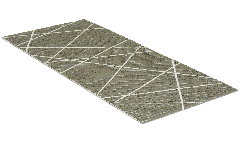 Line hvit/grå - plastteppe