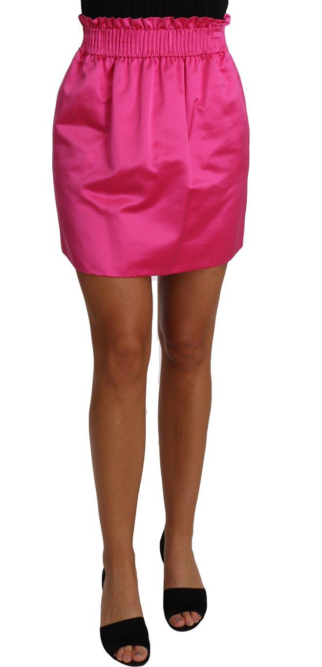 Dolce & Gabbana Women's Paperbag Silk Short Pink PAN61105 - IT38|XS