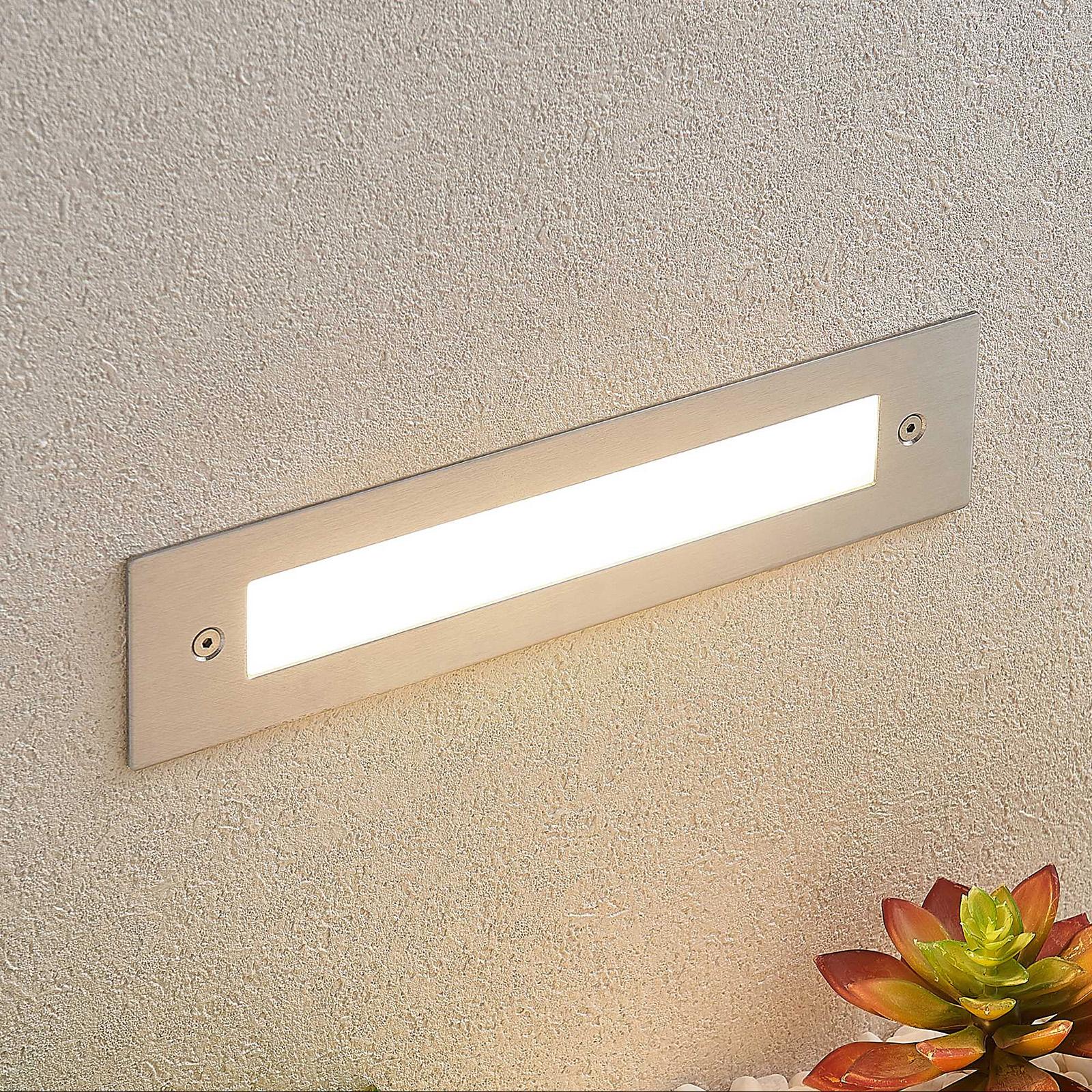 LED-seinäuppovalaisin Roni, terästä, 27 cm