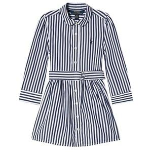 Ralph Lauren Stripe Polo Player Skjortklänning Marinblå 2 years