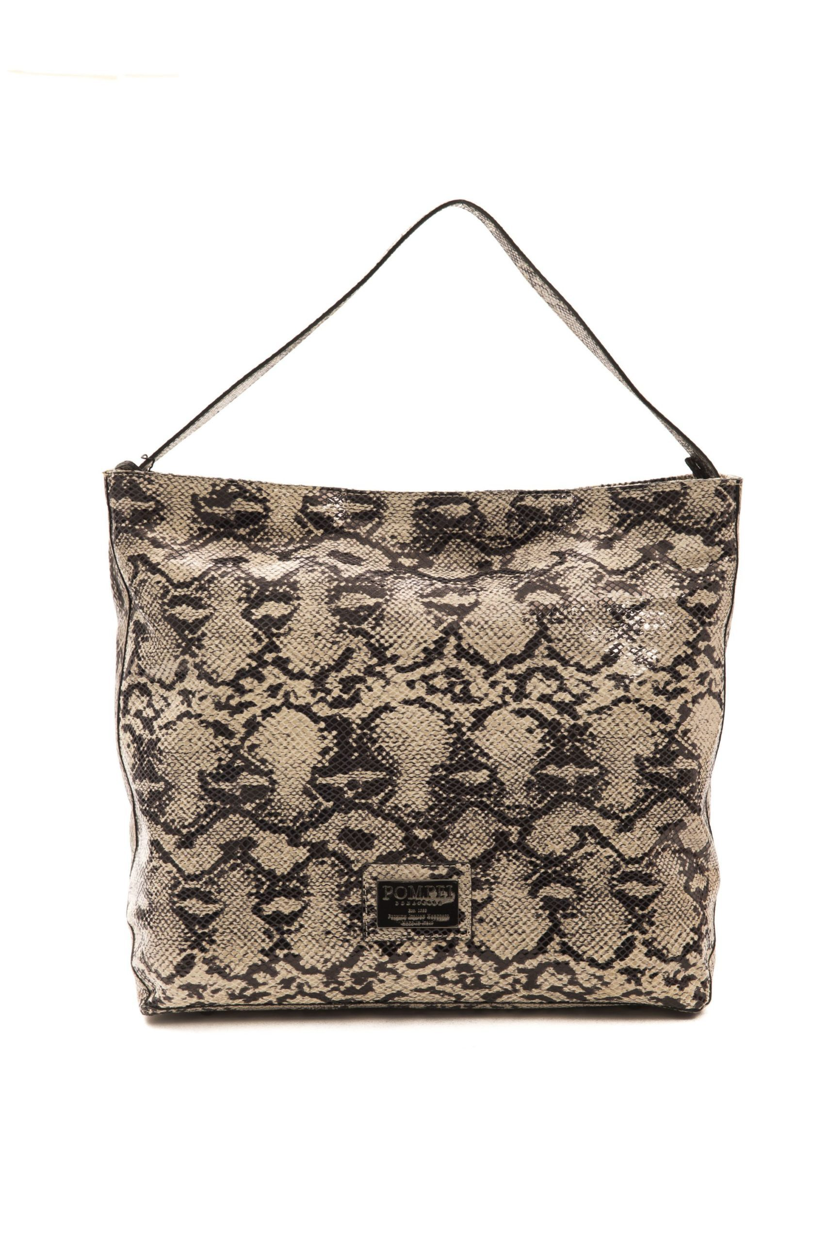 Pompei Donatella Women's Roccia Stone Shoulder Bag Grey PO1004683