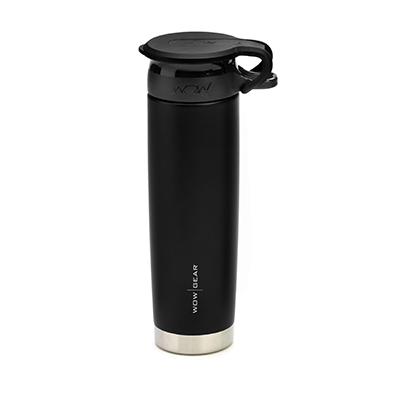 WOW - Double-Walled SS Bottle 650 ml - Black/Black