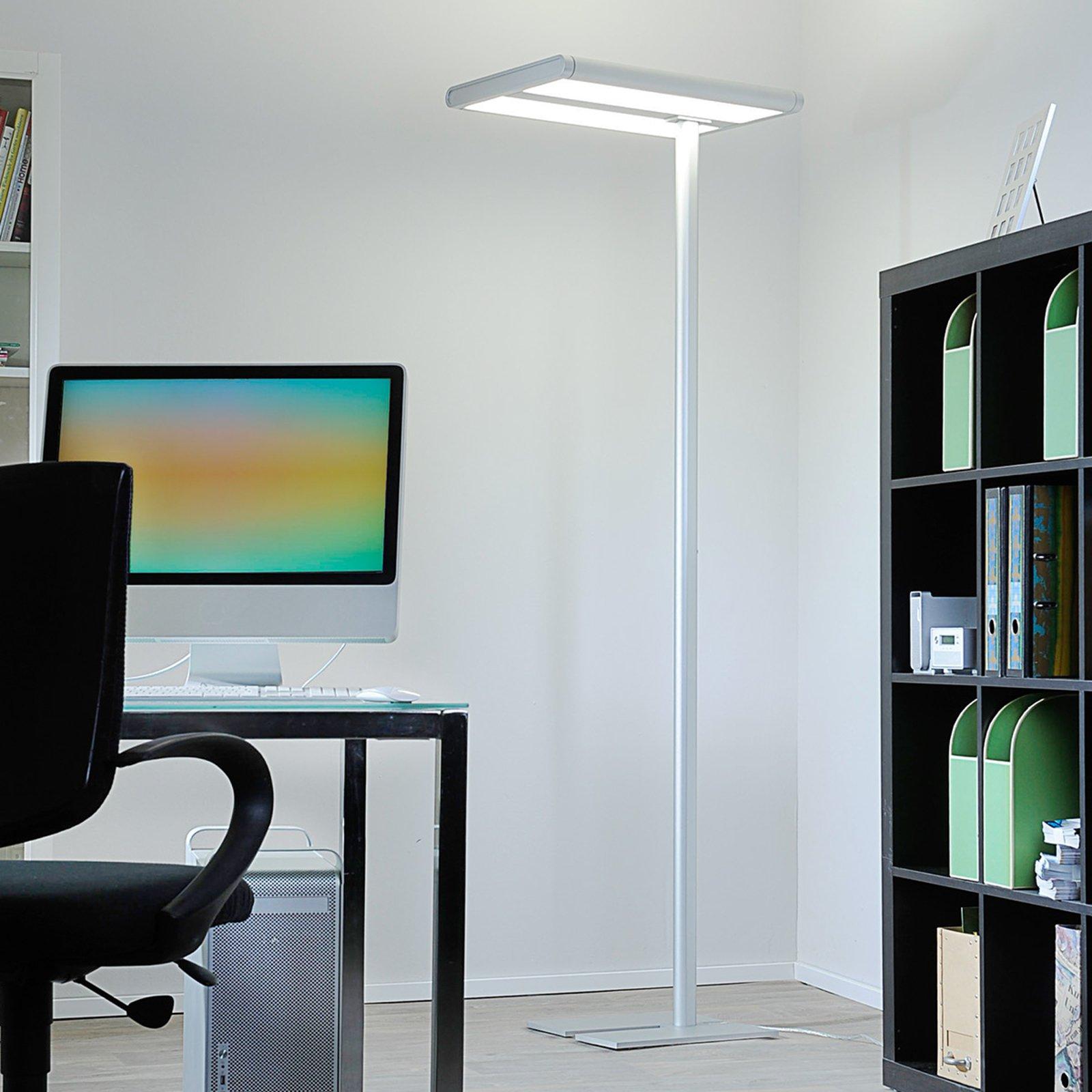 Quirin LED gulvlampe aluminium, 110 W, 4 000 K