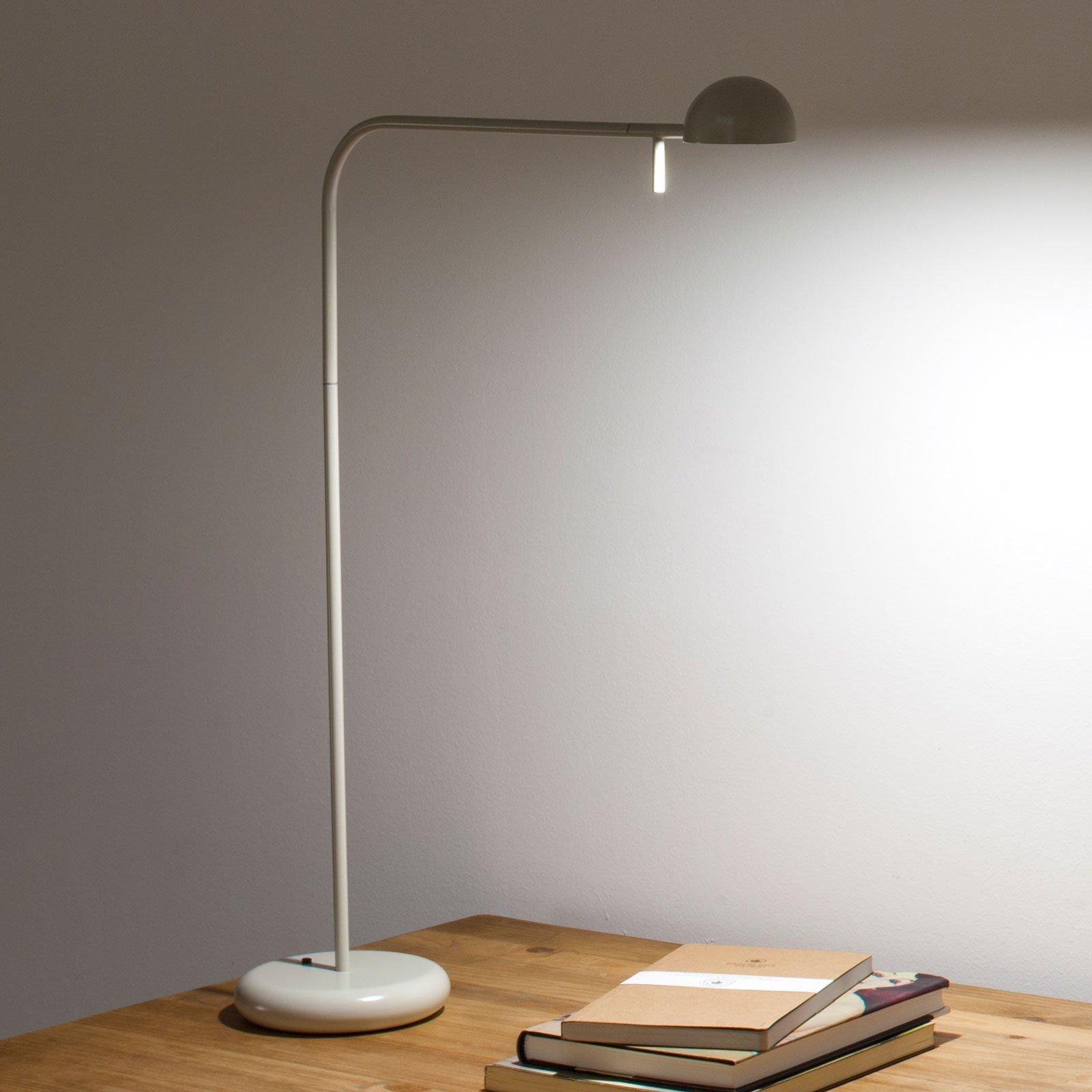 Vibia Pin 1655 LED-bordlampe, lengde 40 cm, hvit