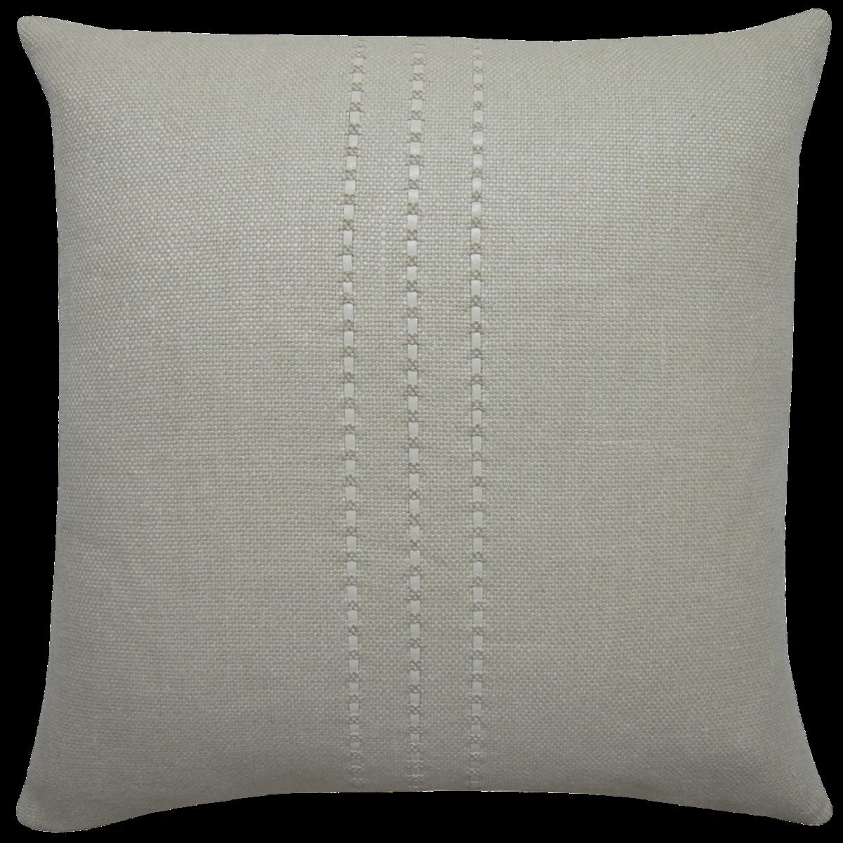 de Le Cuona | Cape Cushion With Leather Detail Frost