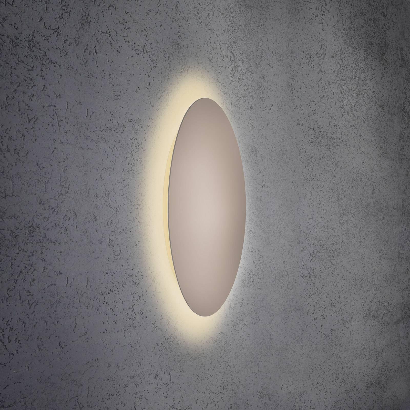 Escale Blade -LED-seinävalaisin, taupe, Ø 59 cm