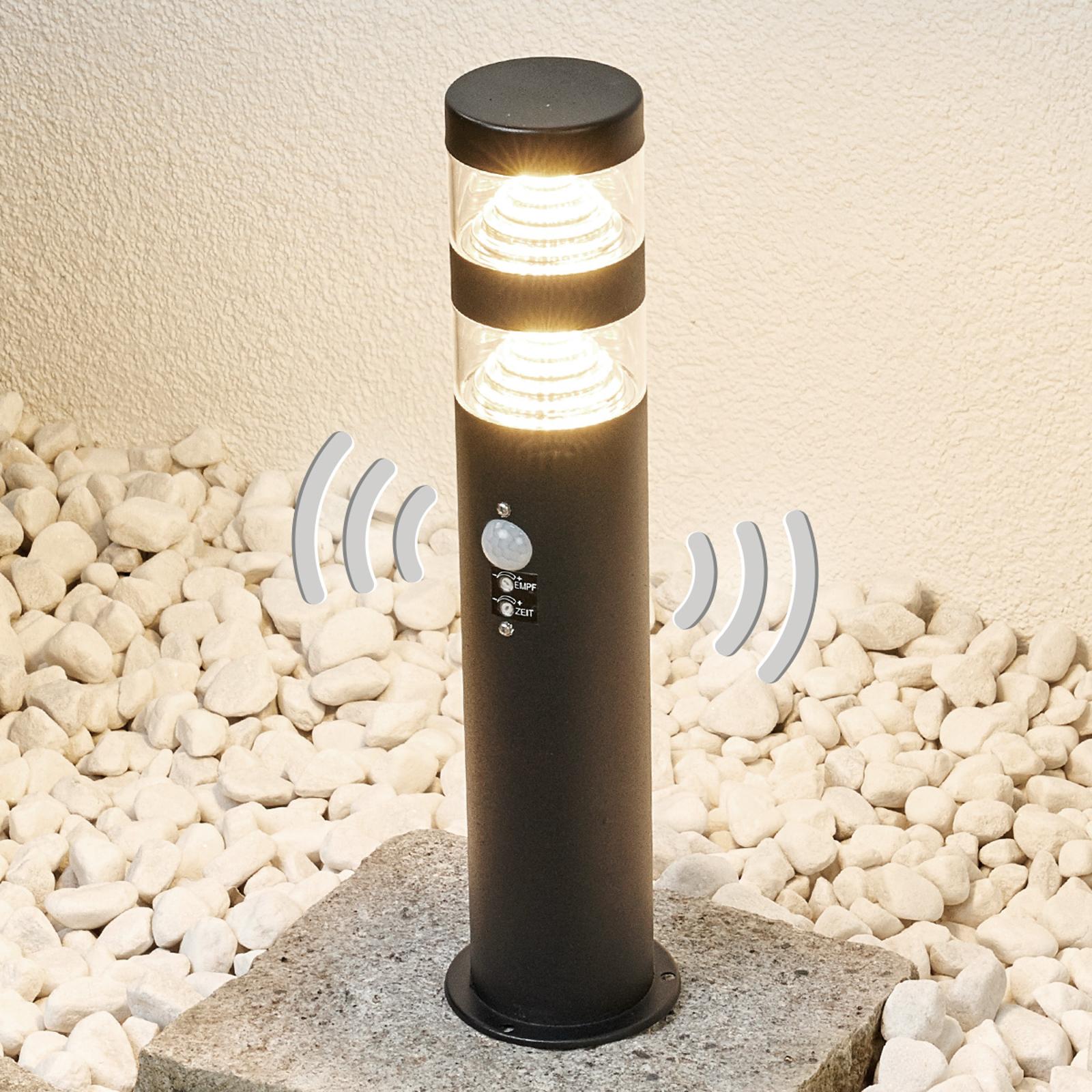 LED-pollarivalaisin Lanea, ruostumaton, tunnistin