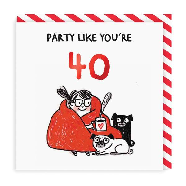 Party Like You're 40 Birthday Greeting Card