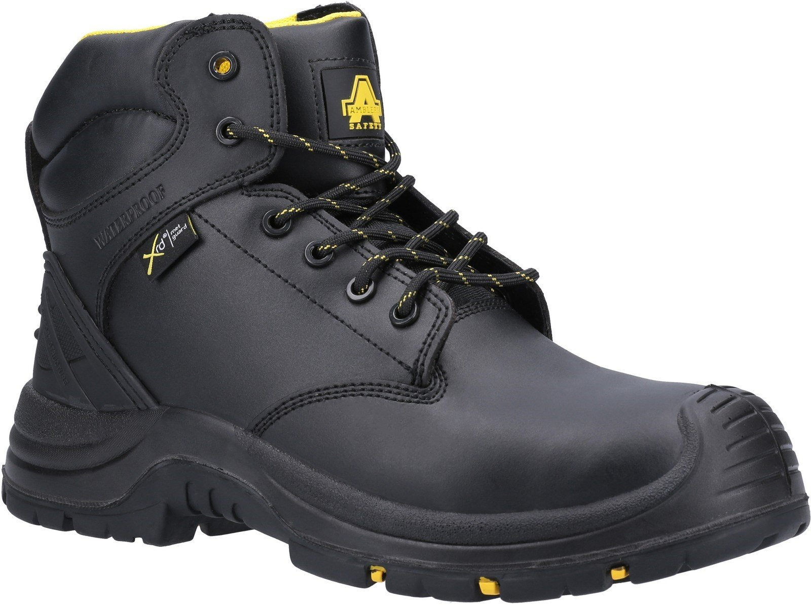 Amblers Unisex Safety Wrekin Lace Up Metal Waterproof Boot Black 29736 - Black 4