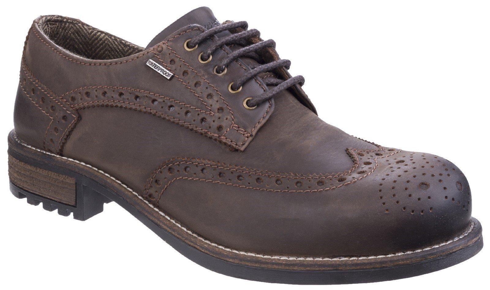 Cotswold Men's Oxford Shoe Brown 24933 - Brown 6