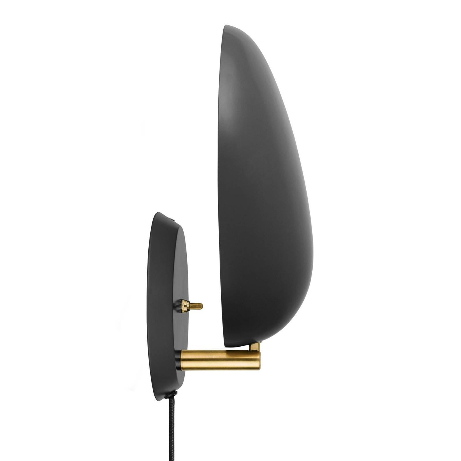 GUBI Cobra -design-seinävalaisin, musta, pistoke