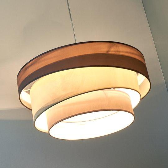 Melia – 3-kerroksinen riippuvalaisin ruskea/harmaa