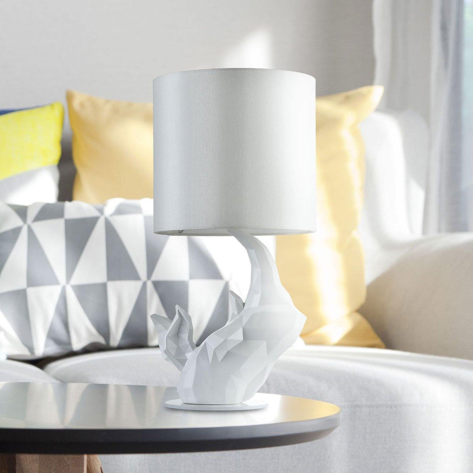Bordlampe Neshorn hvit