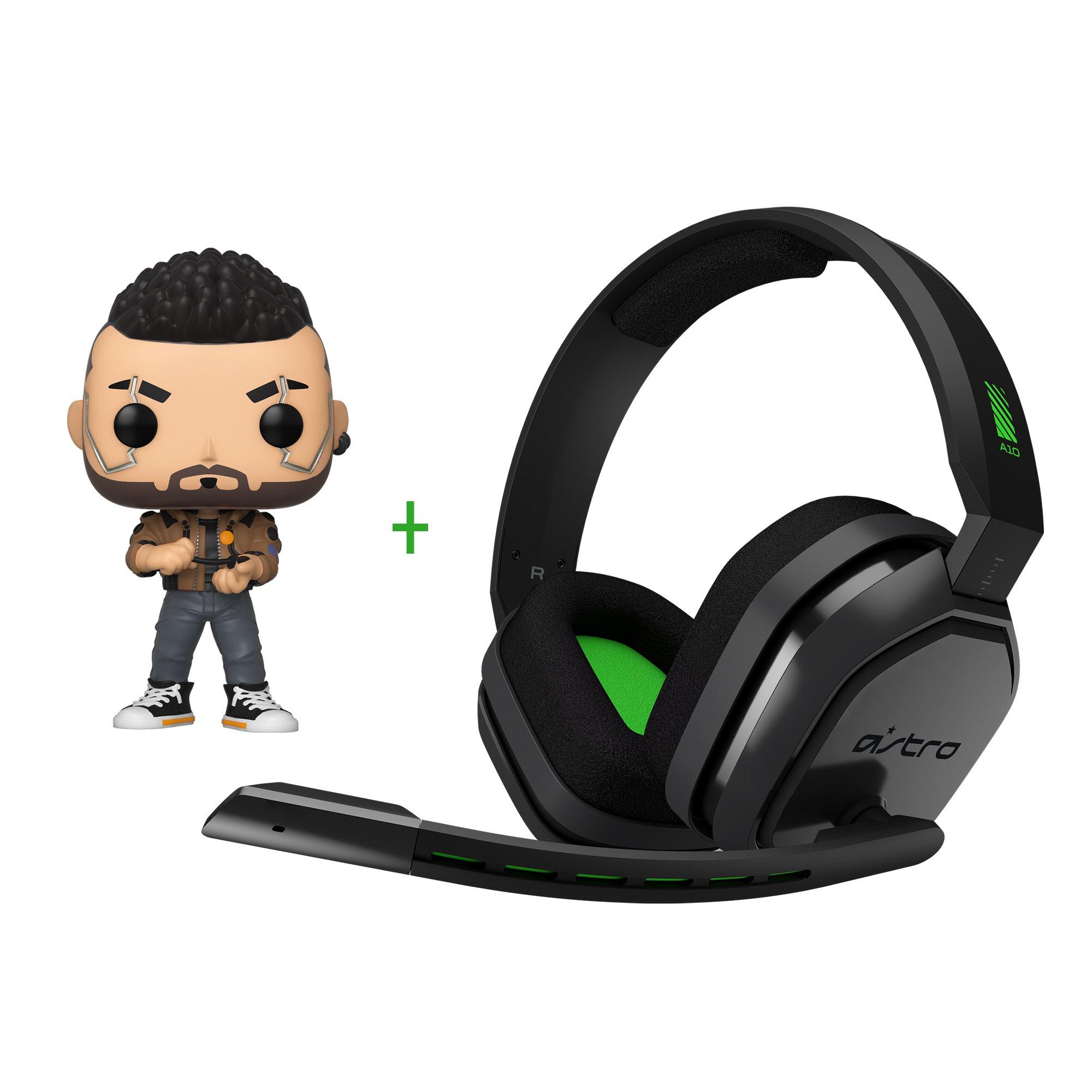 Astro - A10 Gaming Headset XB1-S,X Grey/Green + Funko! POP - Games: Cyberpunk 2077 - V-Male (47159) - Bundle