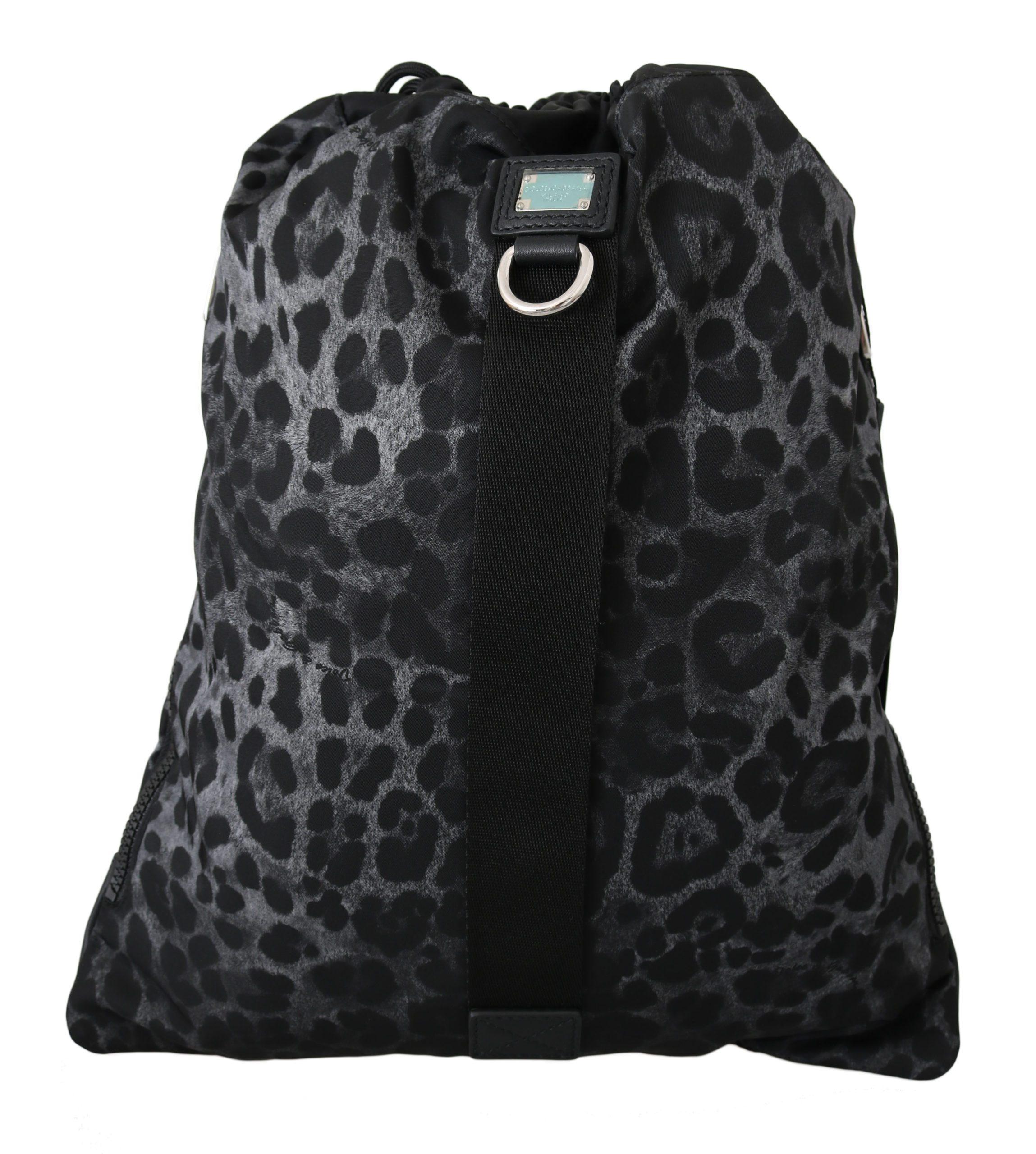 Dolce & Gabbana Men's Leopard Adjustable Nylon Backpack Multicolor VA8646