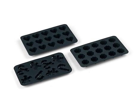 Chokladformar Grå 3 delar
