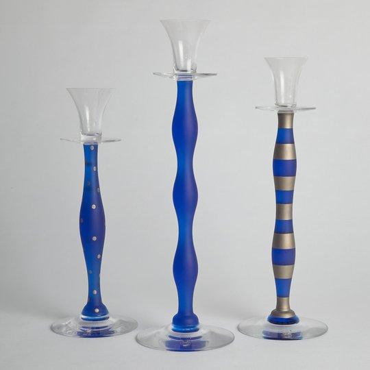 """Orrefors - SÅLD Vintage Ljusstake """"Celeste"""" 3 st"""