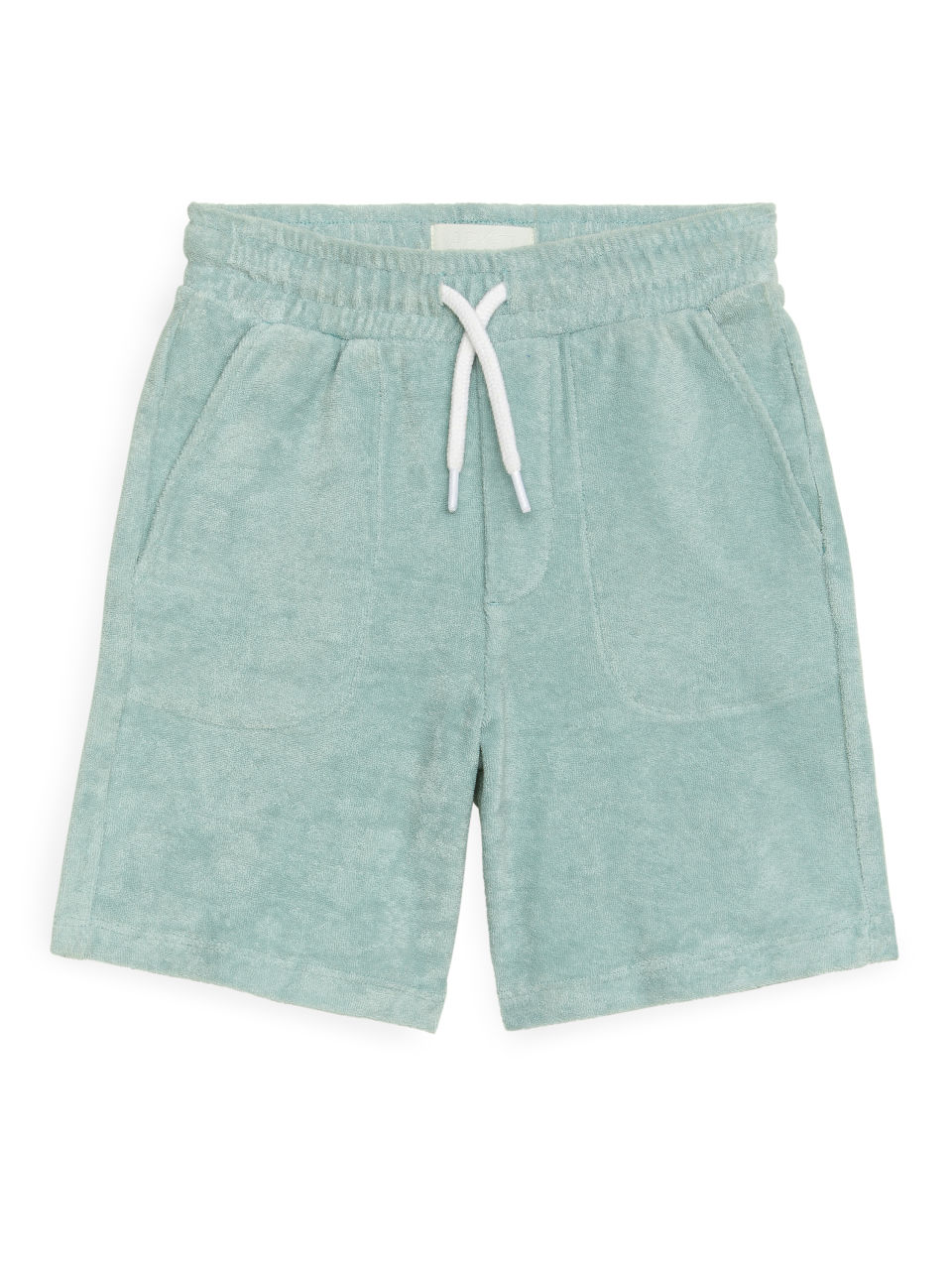 Cotton Towelling Shorts - Turquoise