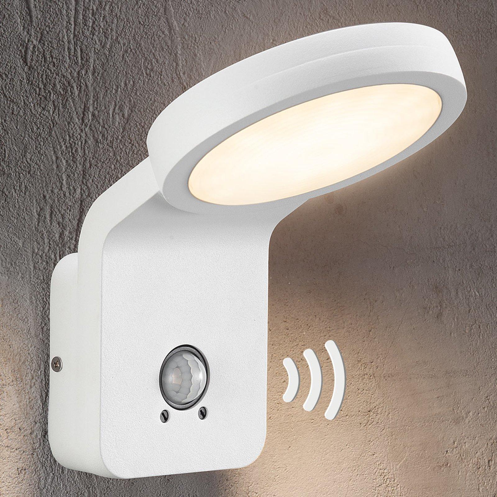 Utendørs LED-vegglampe Marina med IR-sensor hvit