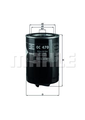 Öljynsuodatin KNECHT OC 470